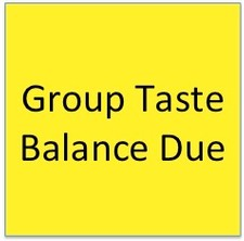 Group Taste Balance Due